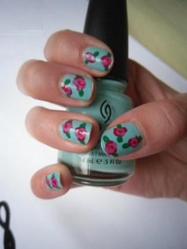 Floral Pastel Nails