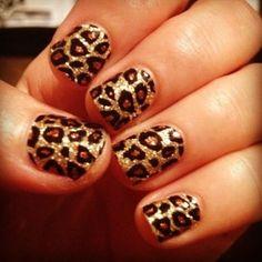Gold leopard print.