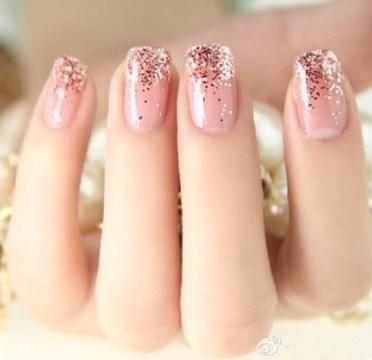 Manicure Glitter Ombre Nails