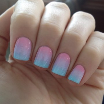 Pastel Ombre Nail Polish for Weddings