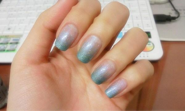 Pastel Sparkle Wedding Nails