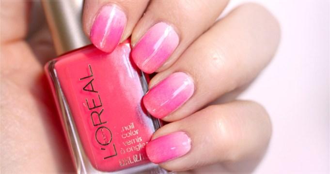 Pink Ombre Nail Polish