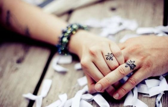Ring Tattoo for Married Couples