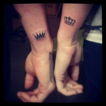 Small Crowns Couple Tattoo