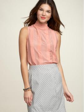 Smock Neck Top Pencil Skirt