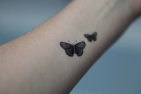 Twin Butterfly Wirst Tattoos