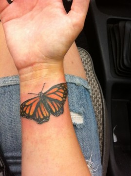 Wrist Monarch Butterfly Tattoo