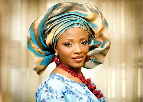 Bride with Blue Gele