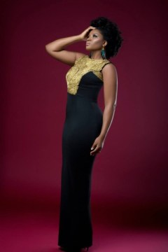gorgeous black shift style dress with bias cut bellanaija