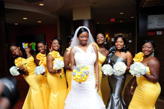 yellow themed nigerian bella naija wedding