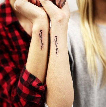 matching wrist tattoo