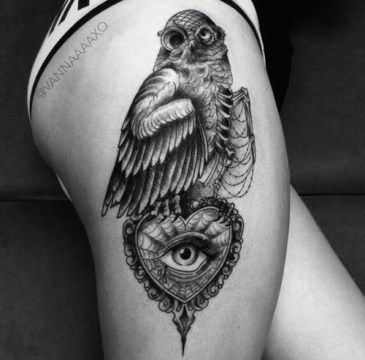 one-eyed owl tattoo