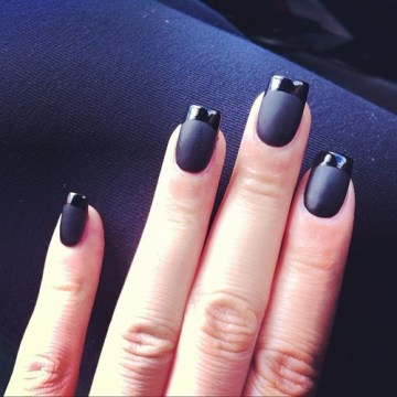Black Matte French Tips