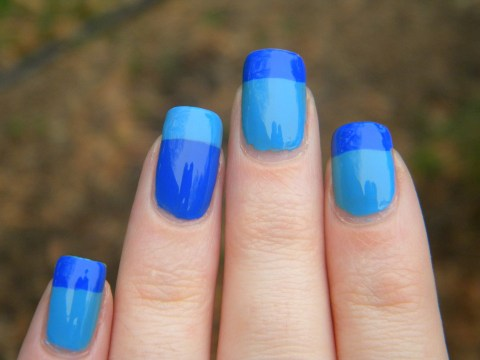 Blue French Tips