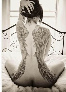 big wings back tattoo