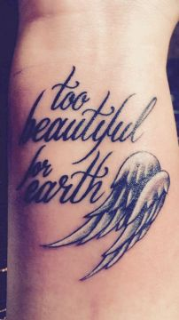 too beautiful angel tattoo
