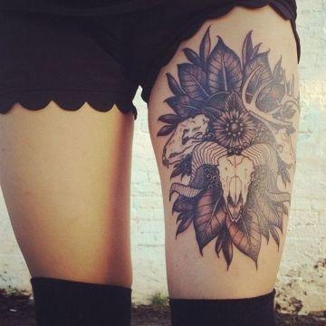 animals skull tattoo