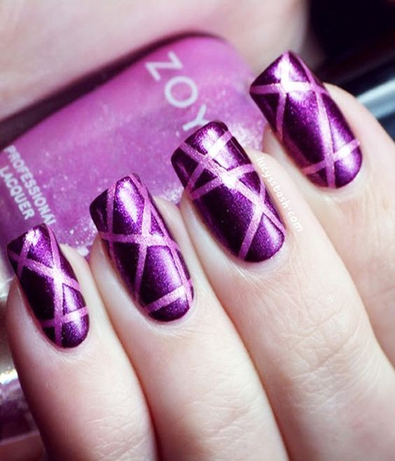 98afb1509080661b9a183b9094fbdcdf - 60 Amazing Purple Nail Designs - FMag.com