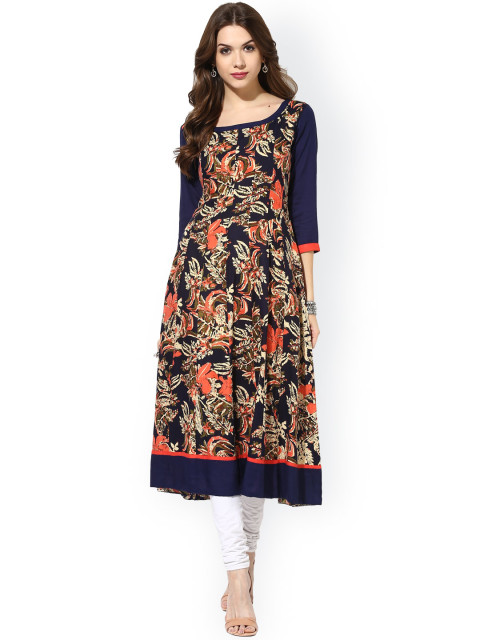 anarkali color pattern