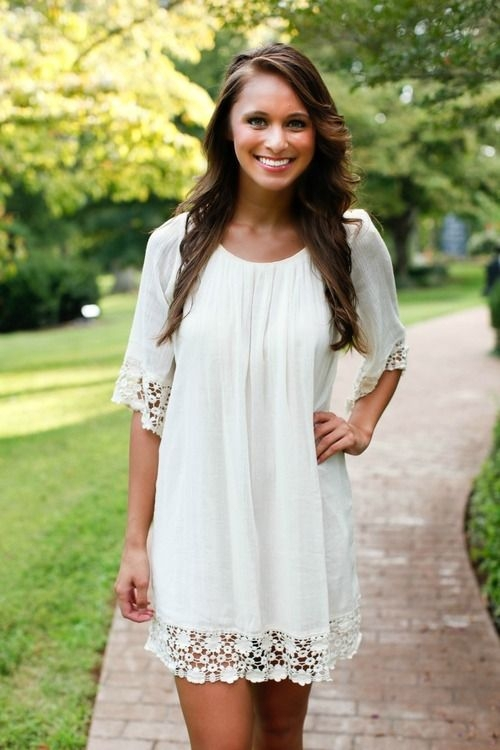 white boho babydoll dress