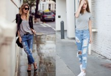 best cuffed jeans outfits for women