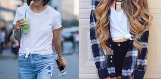 best knotted t shirt tie front outfits