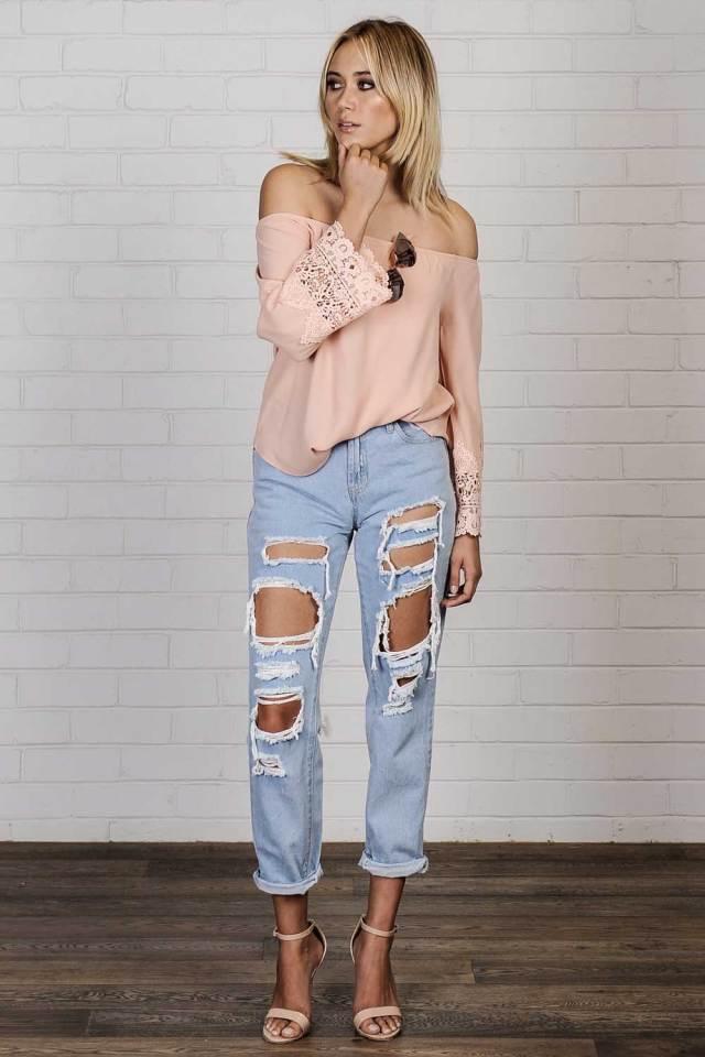 boho sweater boyfriend jeans