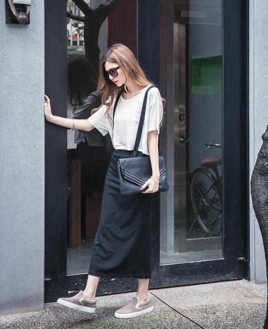 high waisted jumper maxi skirt