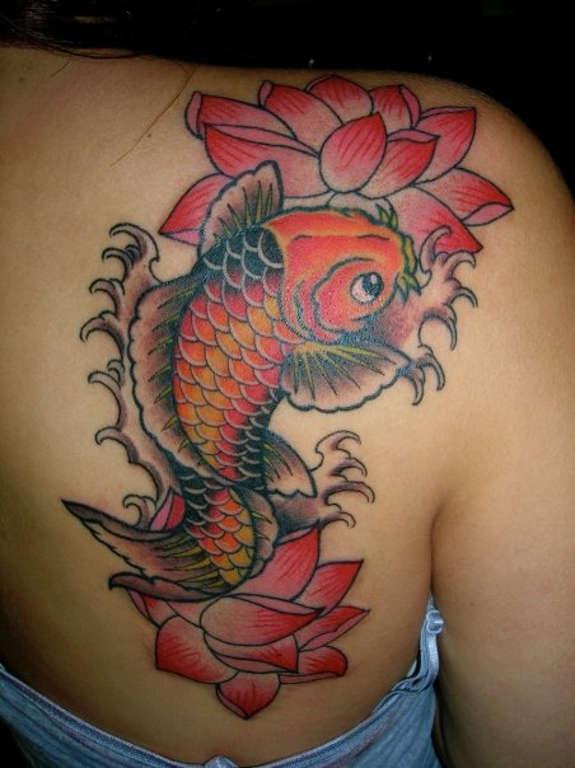 koi and lotus tattoo