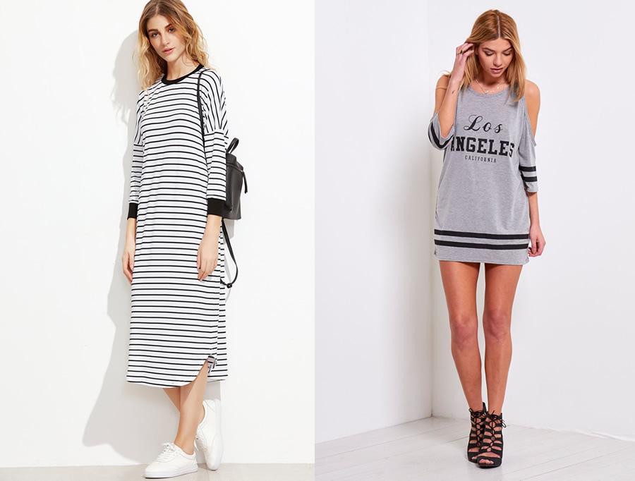 13 Beautiful Long Sleeve T Shirt Dress Outfit Ideas