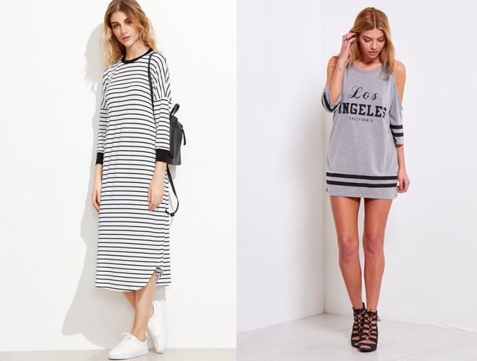 long sleeve t shirt dress outfit ideas