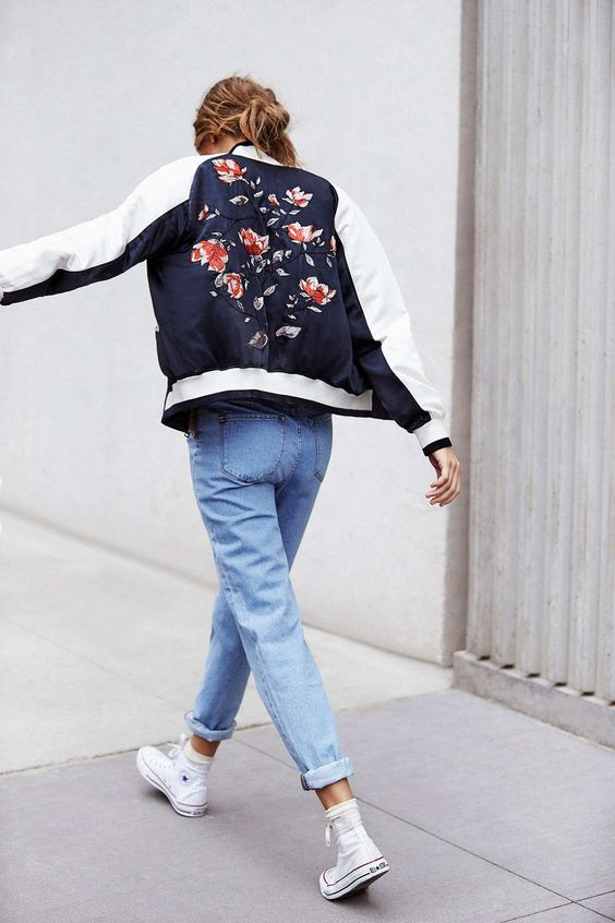 bomber jacket embroidered