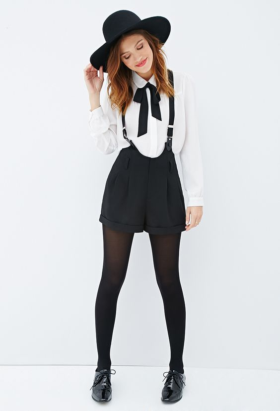 bow tie suspender shorts