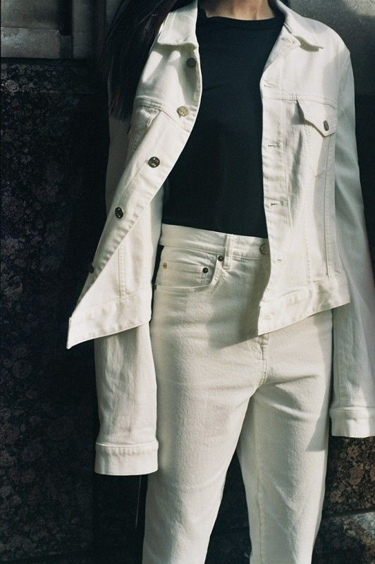 10 Best Ways To Wear White Denim Jacket For Women Fmag Com