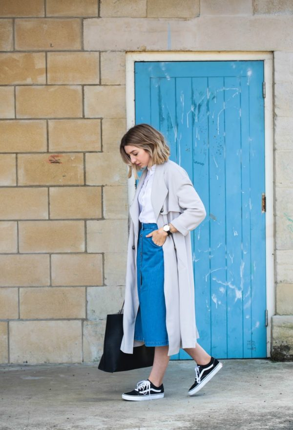 82d196633 What Coat to Wear with a Denim Skirt? - FMag.com