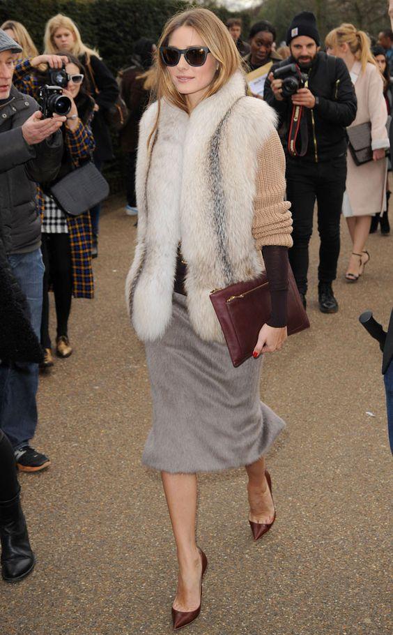 faux fur vest beige shades