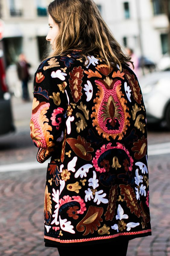 long jacket ethno