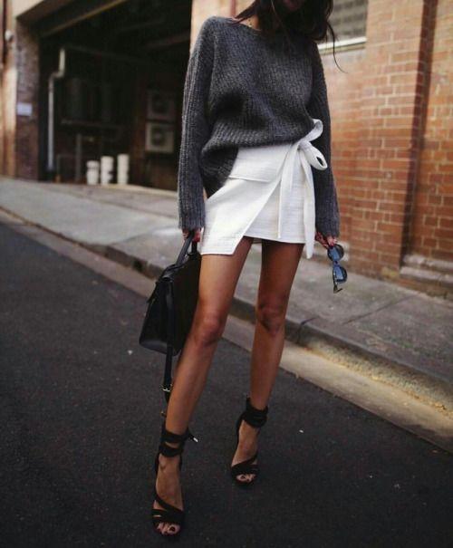 boat neck mini skirt