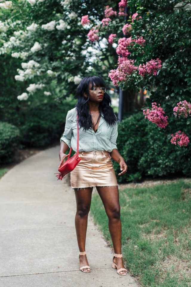 gold skirt rose gold
