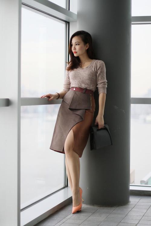 slited skirt petite