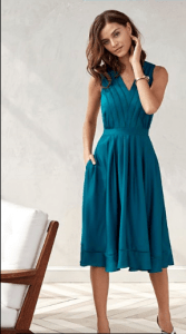 garden party dress teal