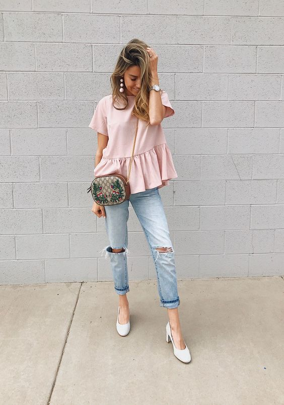 light pink top classic