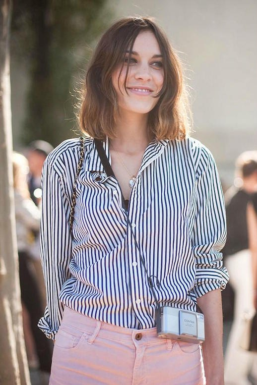 4484bd0bd2 How to Wear Black and White Striped Shirt for Women - FMag.com