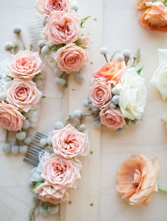 black bridesmaid dresses flower combs