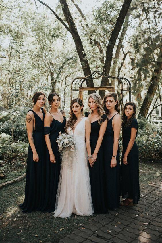 Black Bridesmaid Dresses Cheap