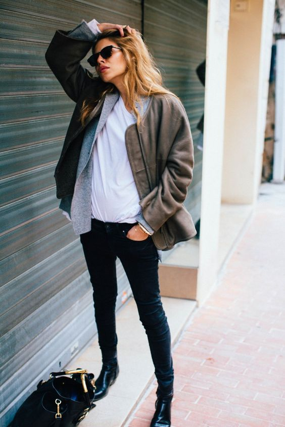 bomber jacket chelsea boots