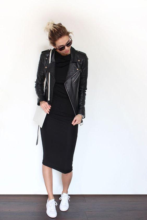 classic black bodycon dress