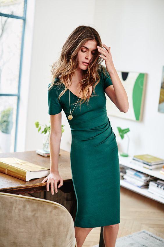 classy emerald green dress