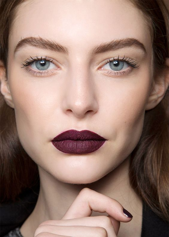 dark purple matte lipstick