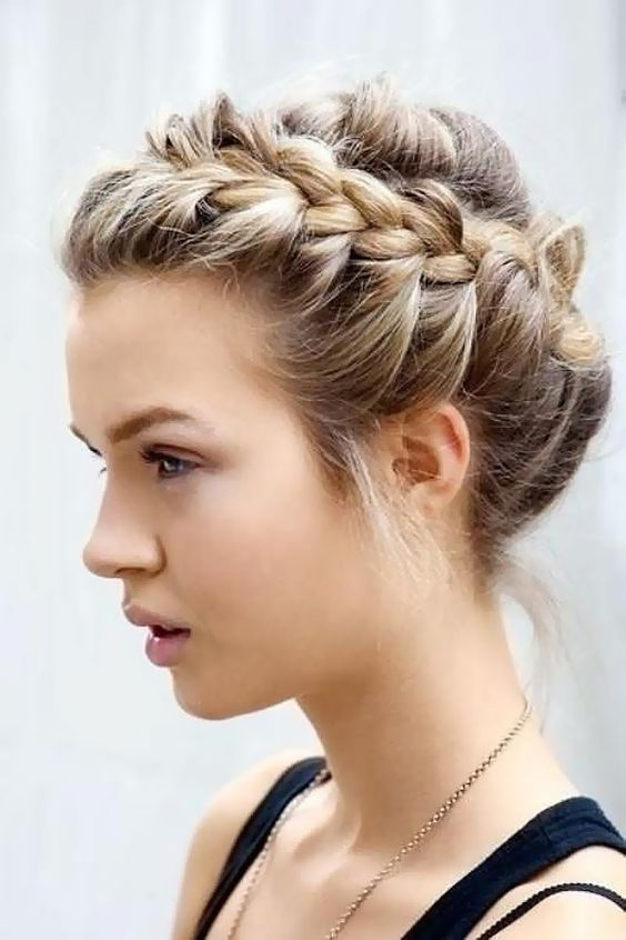braided bun hair interview